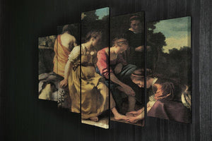 Diana and her nymphs by Vermeer 5 Split Panel Canvas - Canvas Art Rocks - 2