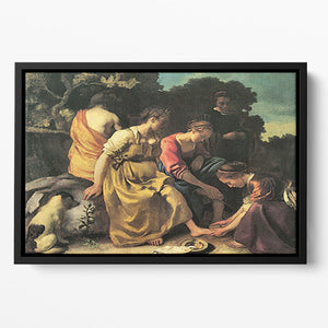 Diana and her nymphs by Vermeer Floating Framed Canvas