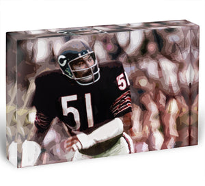 Dick Butkus Chicago Bears Acrylic Block - Canvas Art Rocks - 1