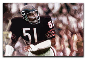 Dick Butkus Chicago Bears Print - Canvas Art Rocks - 1