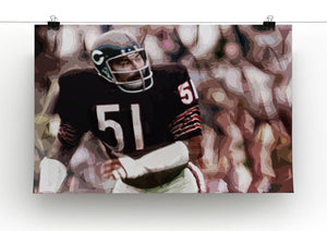 Dick Butkus Chicago Bears Print - Canvas Art Rocks - 2