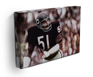 Dick Butkus Chicago Bears Print - Canvas Art Rocks - 3