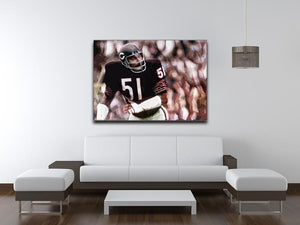 Dick Butkus Chicago Bears Print - Canvas Art Rocks - 4