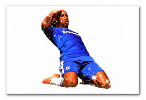 Didier Drogba Goalscorer Print - Canvas Art Rocks - 1