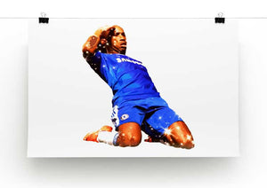 Didier Drogba Goalscorer Print - Canvas Art Rocks - 2