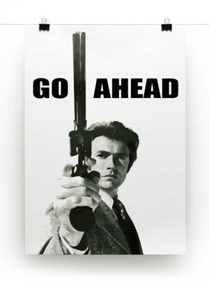Dirty Harry Go Ahead Print - Canvas Art Rocks - 2