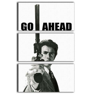 Dirty Harry Go Ahead 3 Split Panel Canvas Print - Canvas Art Rocks - 1