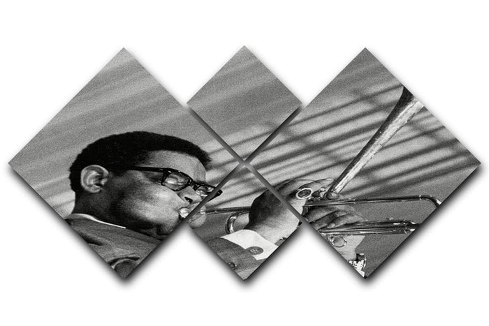 Dizzy Gillespie 4 Square Multi Panel Canvas