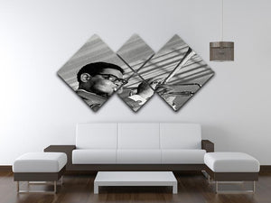 Dizzy Gillespie 4 Square Multi Panel Canvas - Canvas Art Rocks - 3
