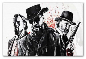Django Unchained Print - Canvas Art Rocks - 1