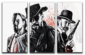 Django Unchained 3 Split Panel Canvas Print - Canvas Art Rocks
