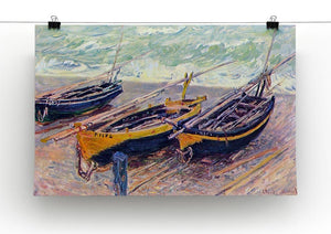 Dock of etretat three fishing boats by Monet Canvas Print & Poster - Canvas Art Rocks - 2