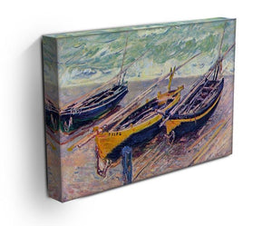 Dock of etretat three fishing boats by Monet Canvas Print & Poster - Canvas Art Rocks - 3