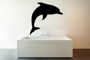 Dolphin Silhouette Wall Decal - Canvas Art Rocks - 1