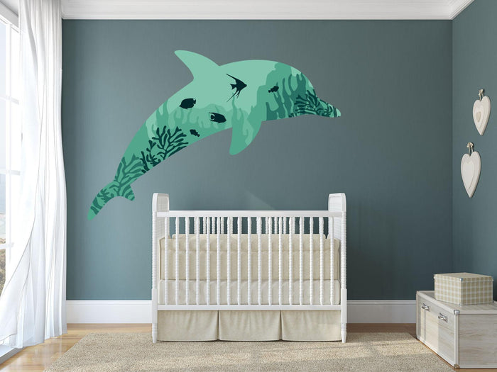 Dolphin Coral Wall Sticker