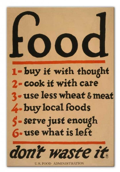 Food (Don't Waste It) Canvas Print or Poster