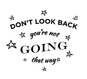 Dont Look Back Wall Decal - Canvas Art Rocks - 2