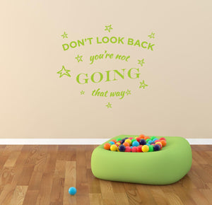 Dont Look Back Wall Decal - Canvas Art Rocks - 1