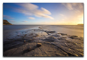 Dorset Beach Print - Canvas Art Rocks - 1