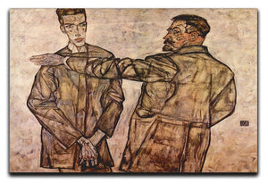 Double Portrait of Heinrich Bensch and his Son Otto by Egon Schiele Canvas Print or Poster - Canvas Art Rocks - 1
