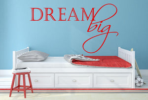 Dream Big - Version 2 Wall Decal - Canvas Art Rocks - 1