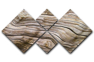 Driftwood 4 Square Multi Panel Canvas  - Canvas Art Rocks - 1