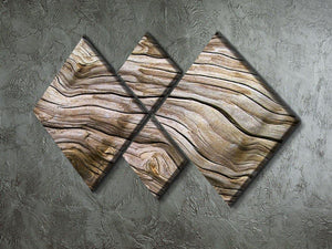 Driftwood 4 Square Multi Panel Canvas  - Canvas Art Rocks - 2