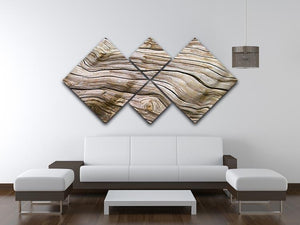 Driftwood 4 Square Multi Panel Canvas  - Canvas Art Rocks - 3