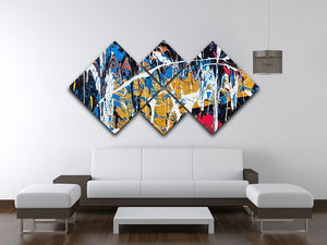 Dripping paint graffiti 4 Square Multi Panel Canvas  - Canvas Art Rocks - 3