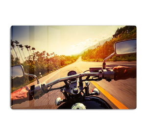 Driver riding motorbike HD Metal Print