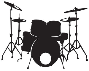 Drum Kit Wall Decal - US Canvas Art Rocks