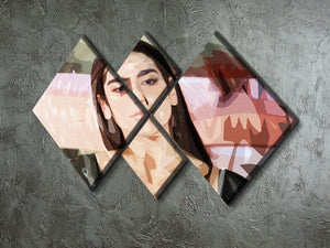 Dua Lipa Pop Art 4 Square Multi Panel Canvas - Canvas Art Rocks - 2