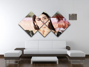 Dua Lipa Pop Art 4 Square Multi Panel Canvas - Canvas Art Rocks - 3