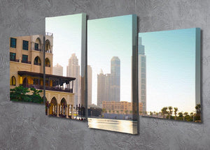 Dubai downtown at sunset 4 Split Panel Canvas  - Canvas Art Rocks - 2