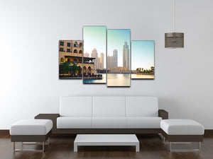 Dubai downtown at sunset 4 Split Panel Canvas  - Canvas Art Rocks - 3