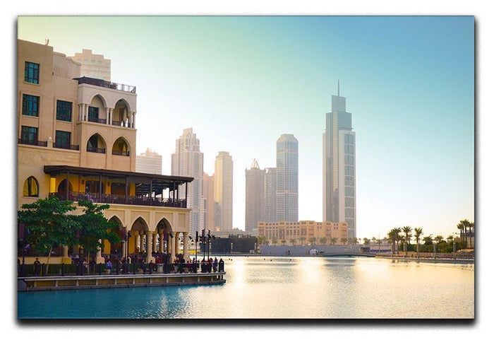 Dubai downtown at sunset Canvas Print or Poster