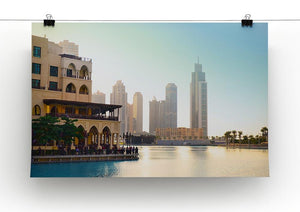 Dubai downtown at sunset Canvas Print or Poster - Canvas Art Rocks - 2