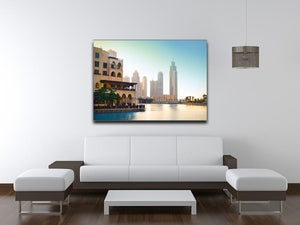 Dubai downtown at sunset Canvas Print or Poster - Canvas Art Rocks - 4