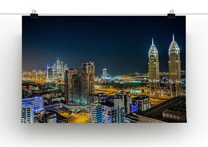 Dubai downtown night scene Canvas Print or Poster - Canvas Art Rocks - 2