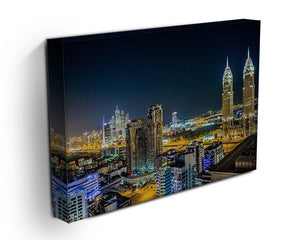 Dubai downtown night scene Canvas Print or Poster - Canvas Art Rocks - 3