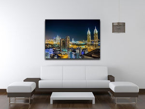 Dubai downtown night scene Canvas Print or Poster - Canvas Art Rocks - 4