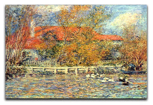 Duck pond by Renoir Canvas Print or Poster  - Canvas Art Rocks - 1