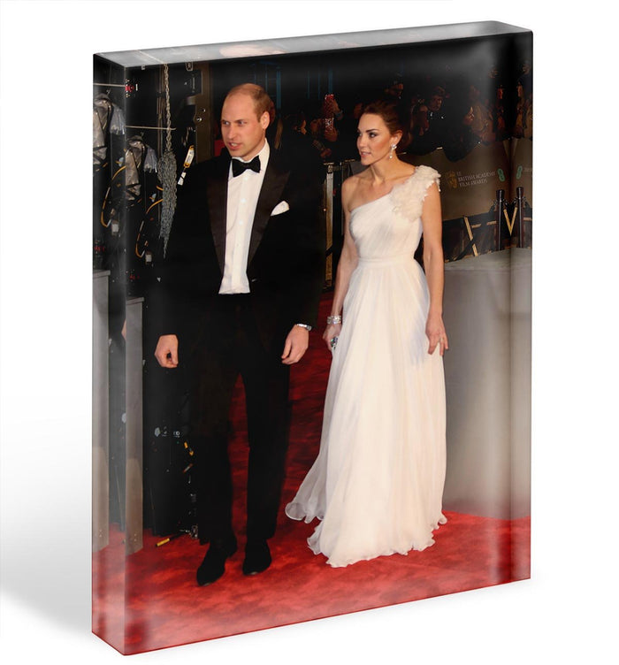 Duke and Duchess of Cambridge at the Baftas Acrylic Block