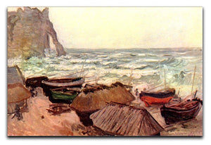 Durchbrochener rock at Etretat by Monet Canvas Print & Poster  - Canvas Art Rocks - 1