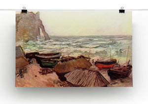 Durchbrochener rock at Etretat by Monet Canvas Print & Poster - Canvas Art Rocks - 2