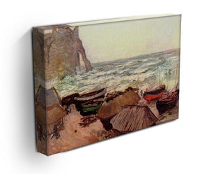 Durchbrochener rock at Etretat by Monet Canvas Print & Poster - Canvas Art Rocks - 3