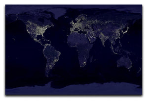 Earth At Night Canvas Print - Canvas Art Rocks - 1