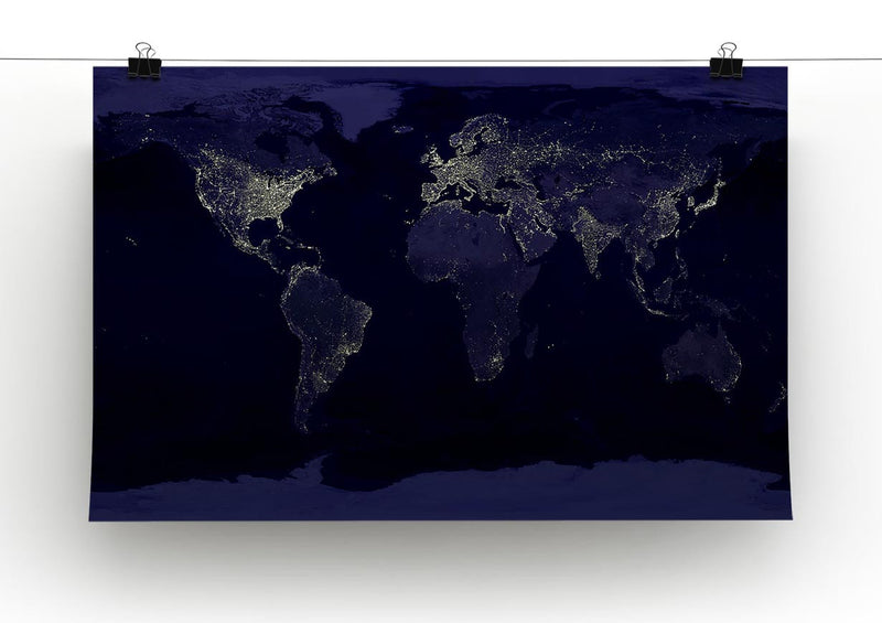 Earth At Night Canvas Print - Canvas Art Rocks - 2