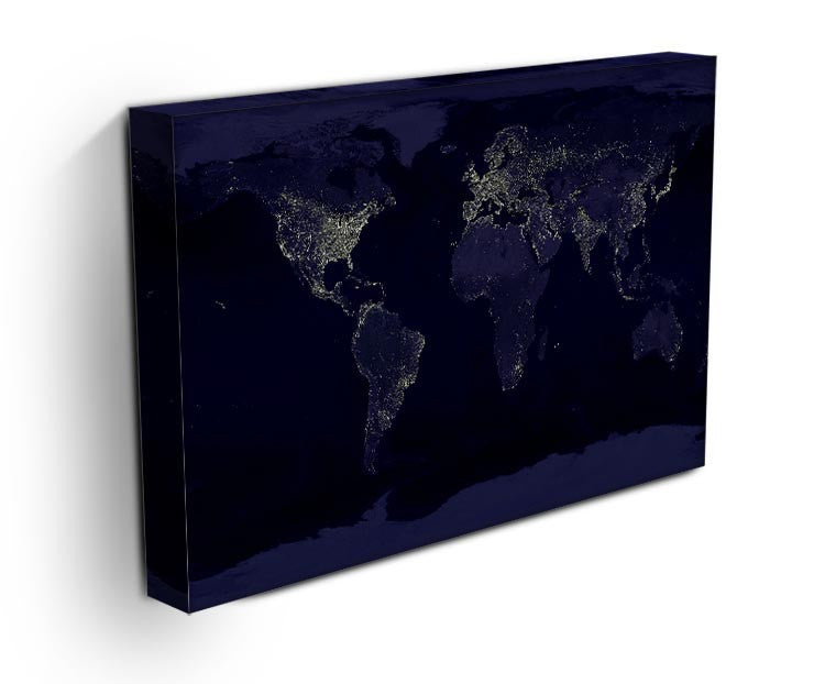Earth At Night Canvas Print - Canvas Art Rocks - 3