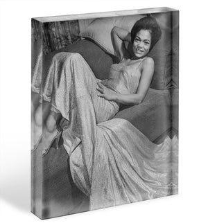 Eartha Kitt singer Acrylic Block - Canvas Art Rocks - 1